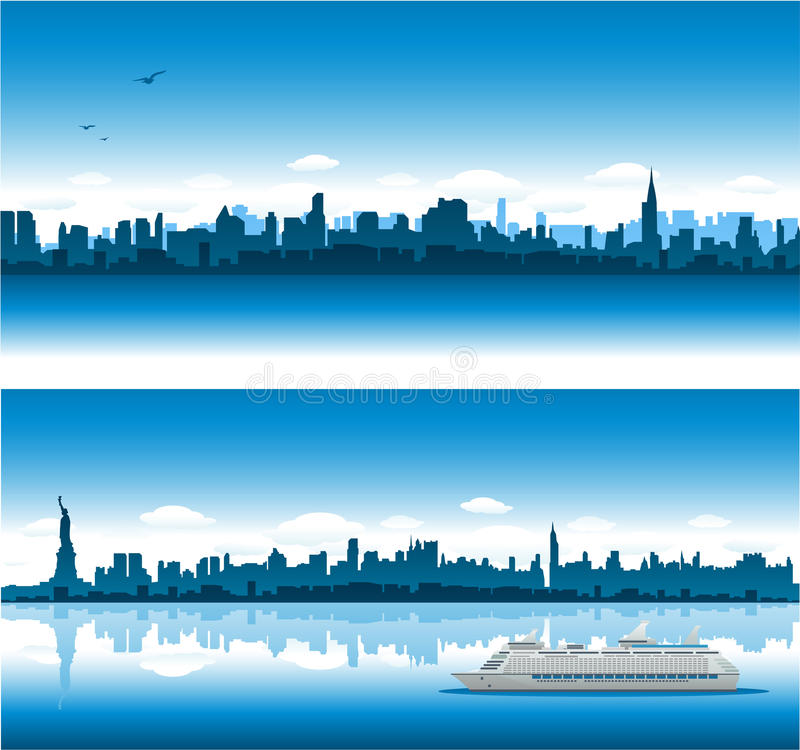 Download New York Cityscape Background Stock Vector - Illustration: 14376393