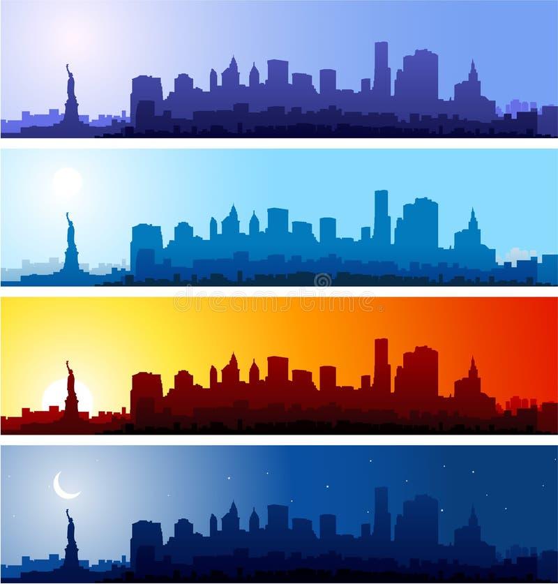 New York Cityscapes stock illustration