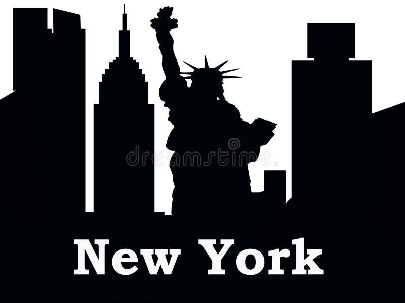 New- York Cityschattenbild New York lizenzfreie abbildung