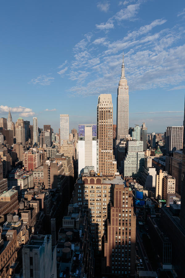 New- York Cityskyline, die Ost schauen stockfoto