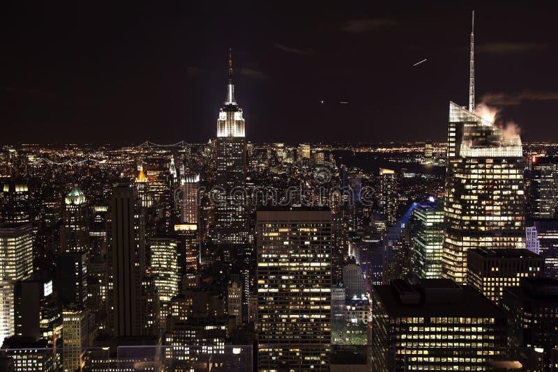 New- York CitySkyline-Empire State Building-Nacht lizenzfreie stockfotografie