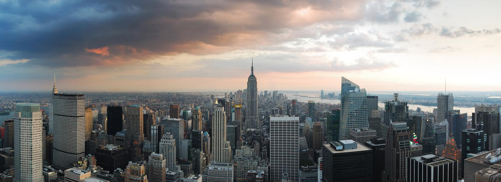 New- York CitySkyline-Panorama lizenzfreies stockbild