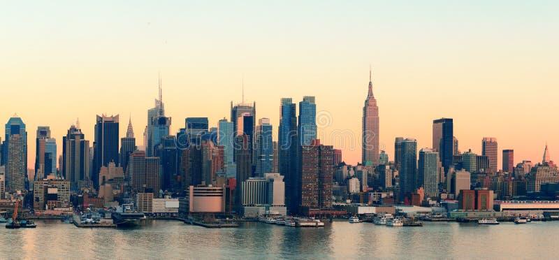 New- York Citysonnenuntergang lizenzfreies stockfoto
