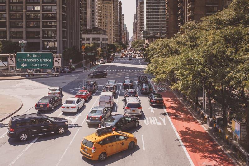 New- York Citystraßen lizenzfreie stockfotos