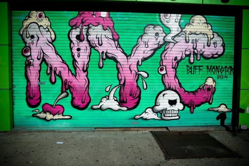 New- York Citystraßen-Kunst stockbilder
