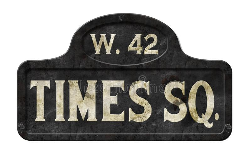 New- York Citytimes square-Straßenschild-Antiken-alte Weinlese stockbild