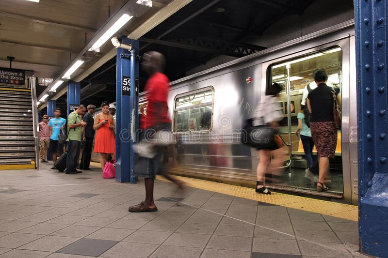 New- York Cityu-bahn lizenzfreie stockfotografie