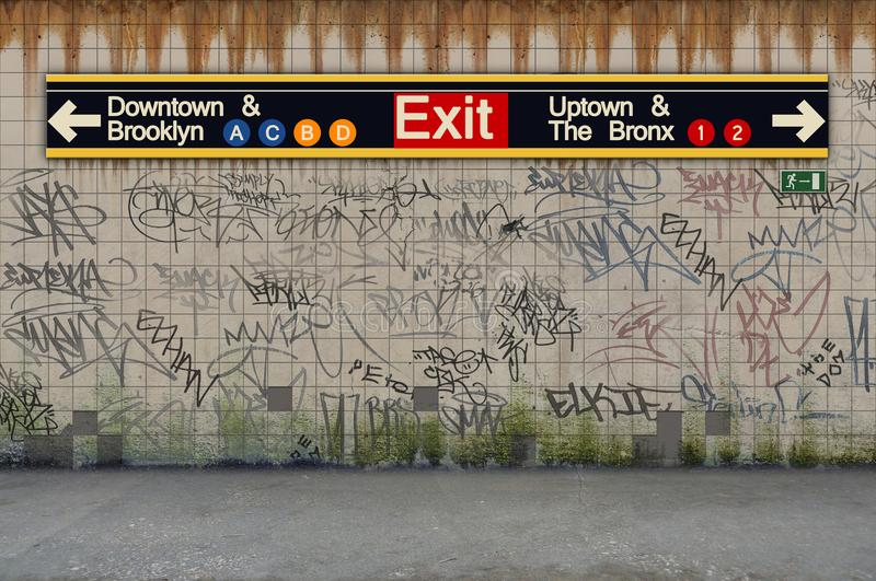 New- York Cityu-bahn Trainstation lizenzfreies stockbild
