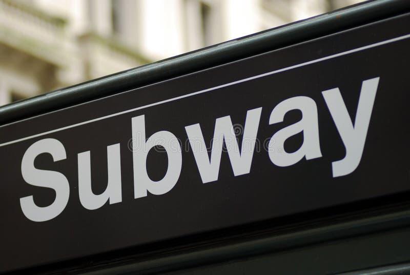 New- York Cityuntergrundbahnzeichen stockbilder