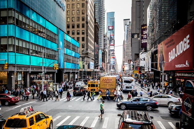 New- York Cityverkehrsreiche straße am 19. September 2014 lizenzfreies stockfoto