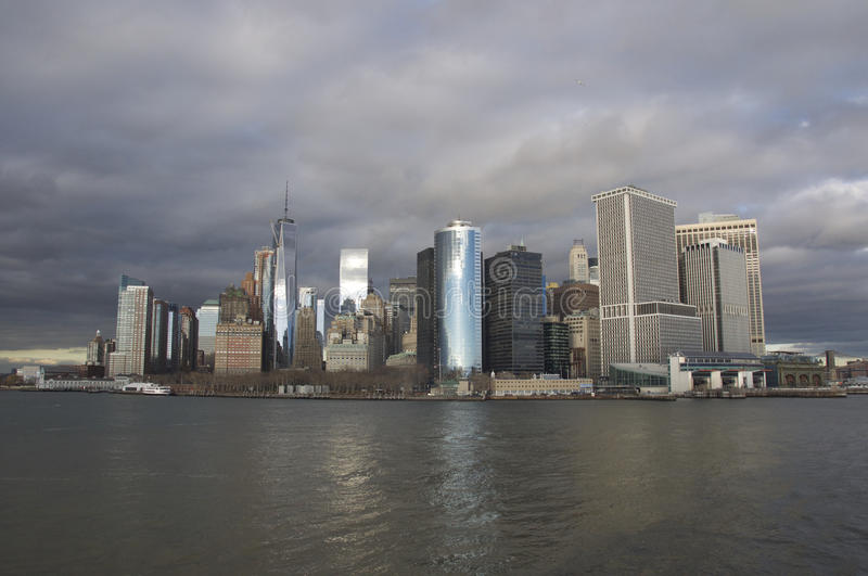 New York On a Cloudy Day royalty free stock photos