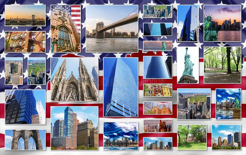 New york collage stock image image of landmarks america for Top 5 best cities in usa