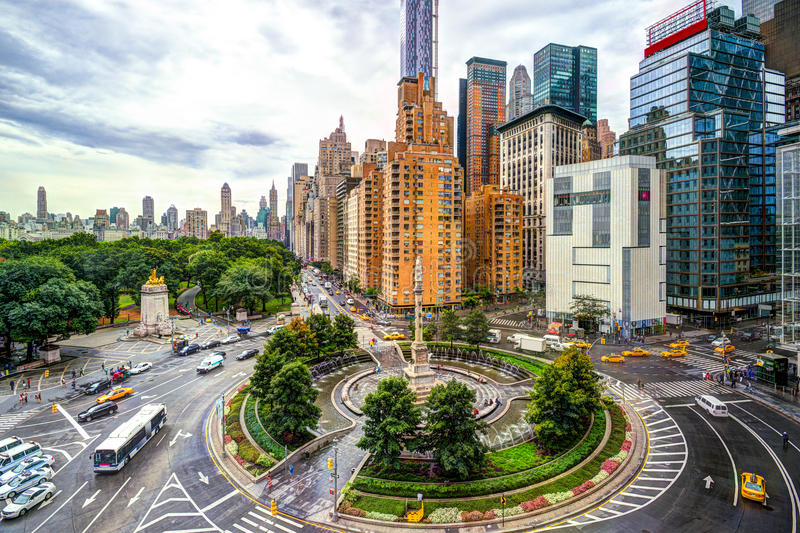 New York Columbus Circle arkivbild