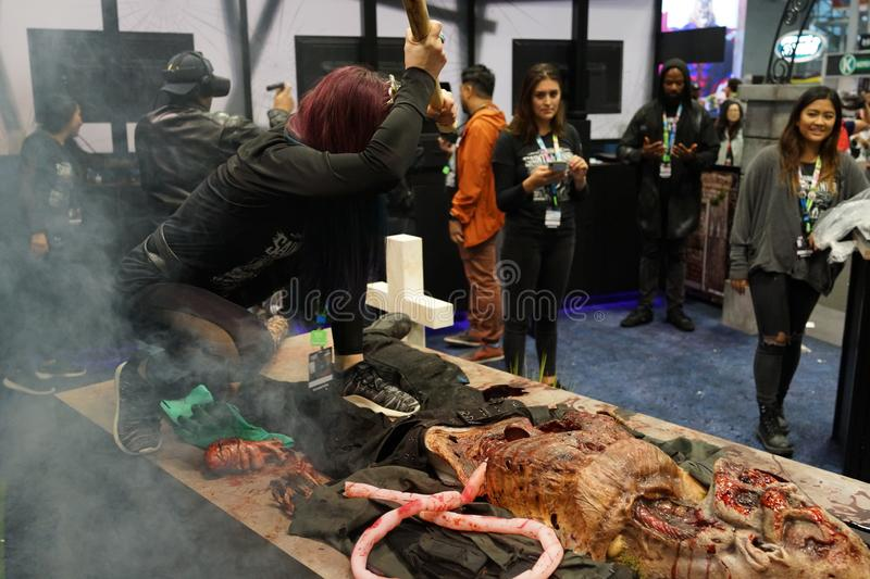 The 2019 New York Comic Con Sunday 21 royalty free stock images