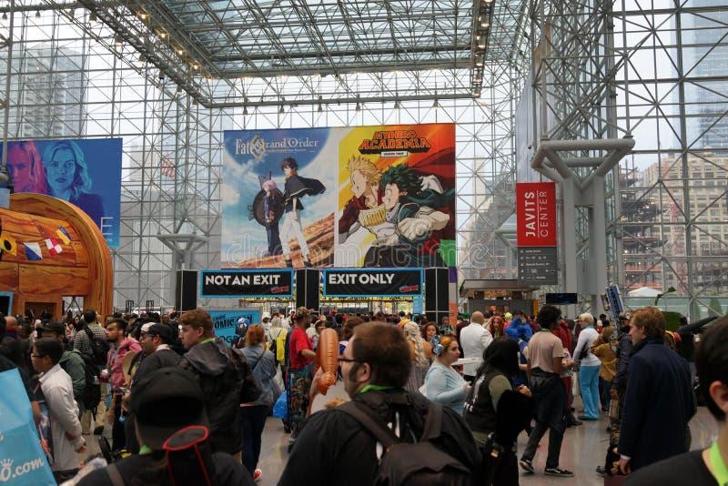 The 2019 New York Comic Con Sunday 12 stock image