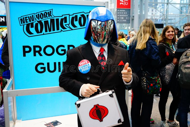 The 2019 New York Comic Con Sunday 1 royalty free stock photos