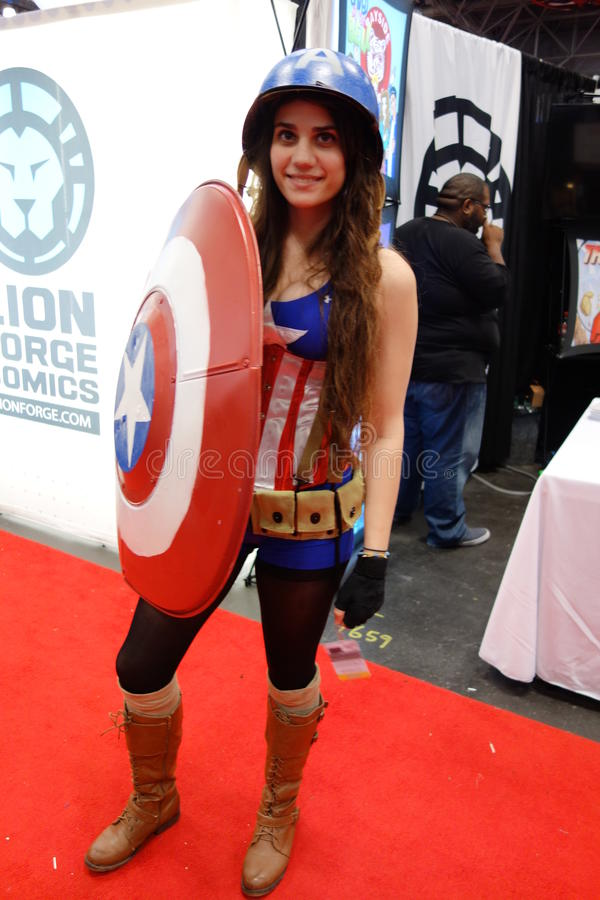 The 2014 New York Comic Con 136. This convention is held at the Javits Convention Center In New York City royalty free stock images