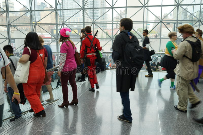 New York Comic Con 2015 15. New York Comic Con is the East Coast's biggest and most exciting popular culture convention. Our Show Floor plays host to the latest stock photo