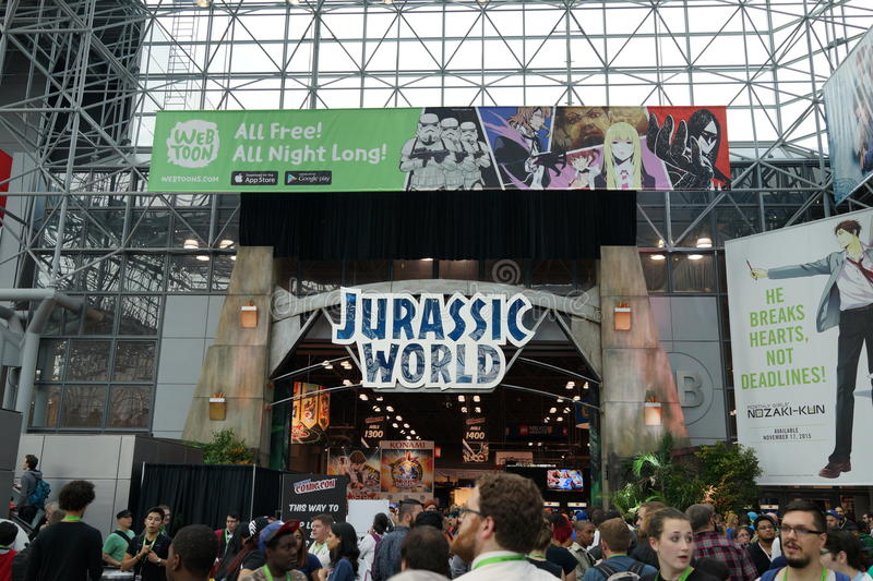 New York Comic Con 2015 35. New York Comic Con is the East Coast's biggest and most exciting popular culture convention. Our Show Floor plays host to the latest stock image