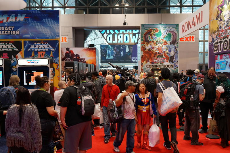 New York Comic Con 2015 53. New York Comic Con is the East Coast's biggest and most exciting popular culture convention. Our Show Floor plays host to the latest stock photo