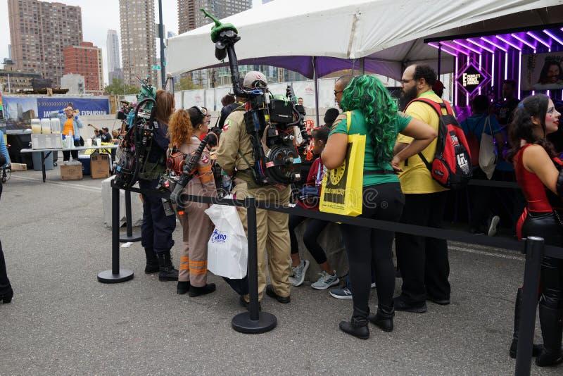 The 2019 New York Comic Con Sunday 61 stock photos