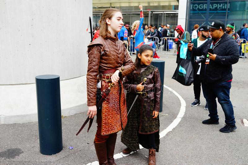 The 2019 New York Comic Con Sunday 45 stock images