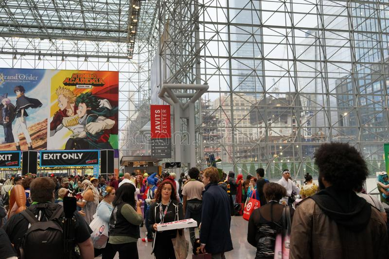 The 2019 New York Comic Con Sunday 10 royalty free stock images