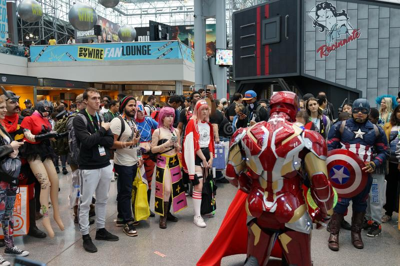 The 2019 New York Comic Con Sunday 9 stock images