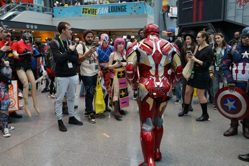 The 2019 New York Comic Con Sunday 5 royalty free stock photography