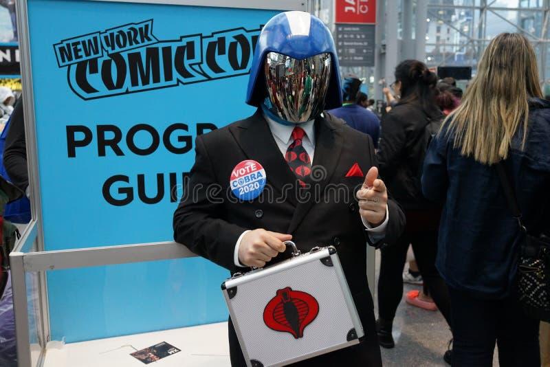 The 2019 New York Comic Con Sunday 2 stock photos