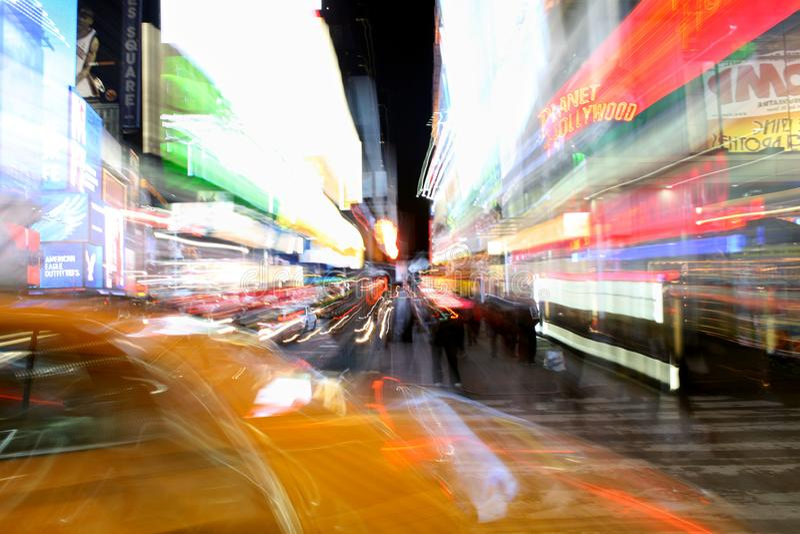 New York: Cores de Time Square foto de stock