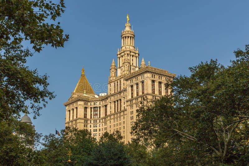 New York Corridoio, il sedile del governo di New York fotografia stock libera da diritti