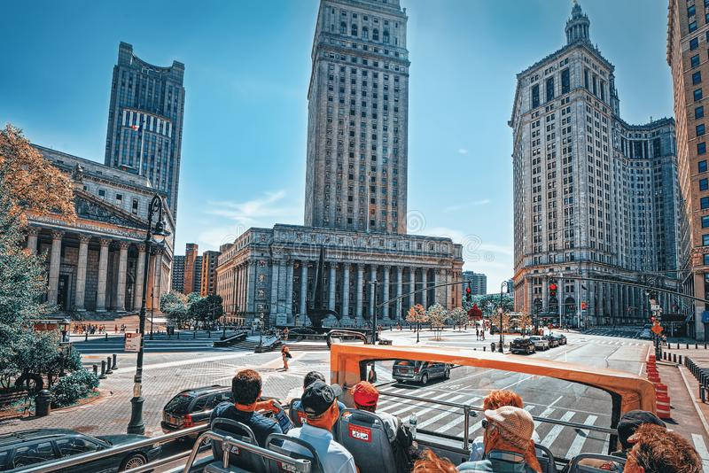 New York County Supreme Court and United States Court of Appeals for the Second Circuit. USA. New York, USA- August 14, 2017 : New York County Supreme Court and stock image