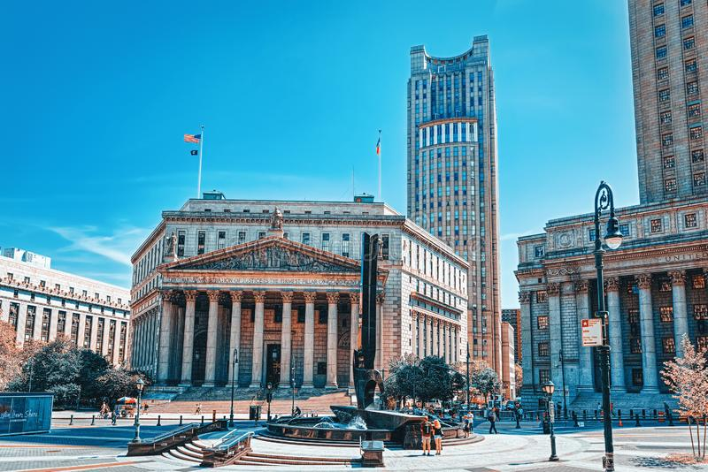 New York County Supreme Court and United States Court of Appeals for the Second Circuit. USA. New York, USA- August 14, 2017 : New York County Supreme Court and royalty free stock photo