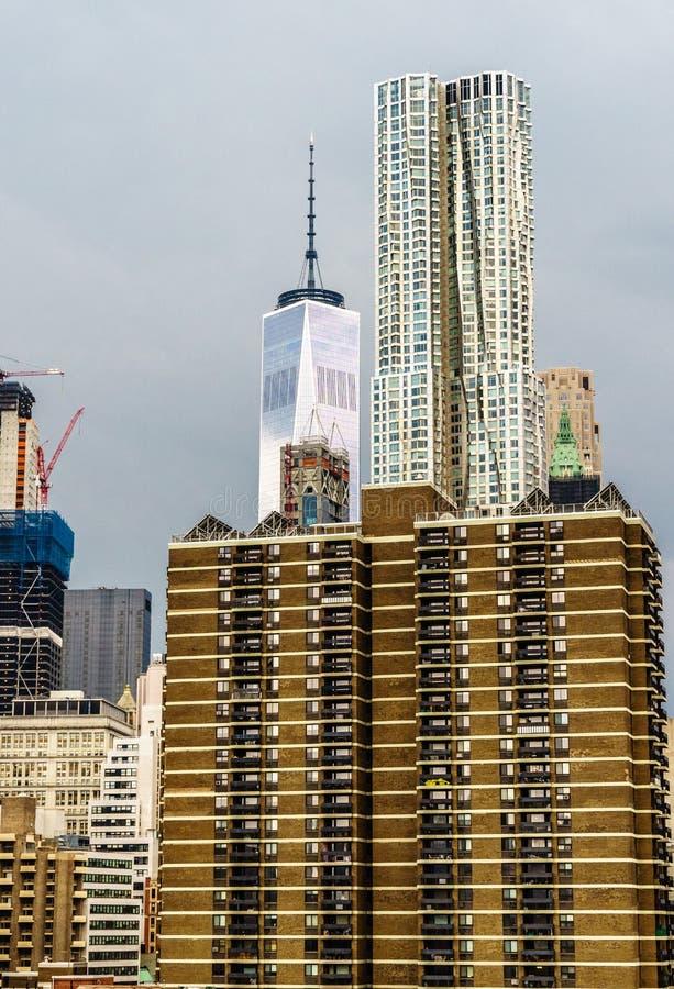 New York da ponte de Brooklyn fotos de stock royalty free
