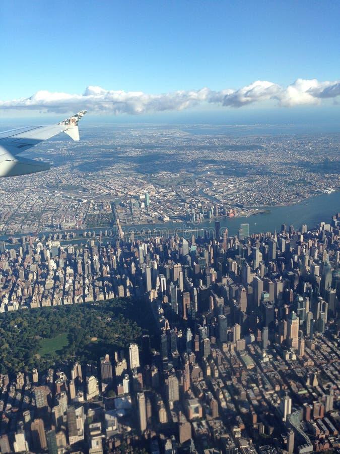 New York da sopra immagine stock