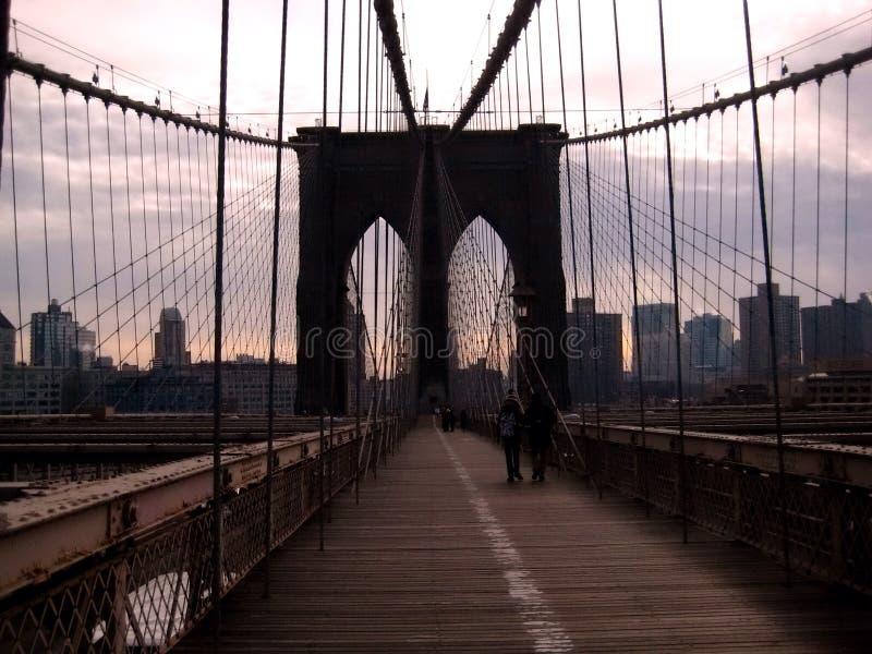 New York dal ponte di Brooklyn fotografia stock