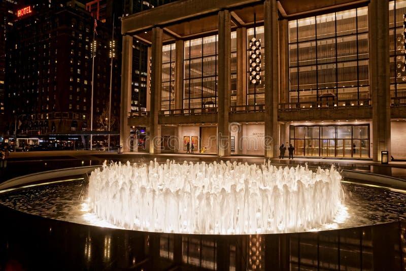 New York David H Théâtre de Koch images libres de droits