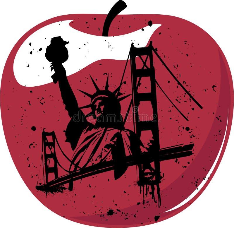 New York de grote appel stock illustratie
