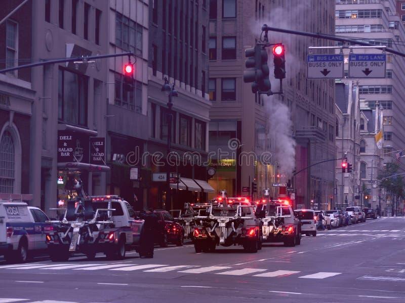 New York in de ochtend stock afbeeldingen