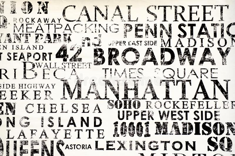 New York - 18 de setembro de 2016: Pinturas murais nas ruas de Manhatta fotografia de stock royalty free