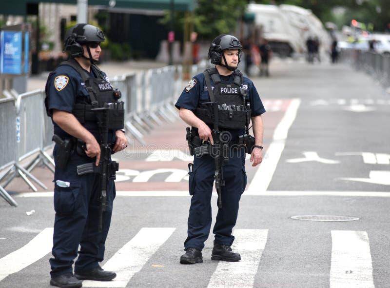 NEW YORK, de V.S. - 10 Juni, 2018: De de Stadspolitie Departme van New York stock afbeelding