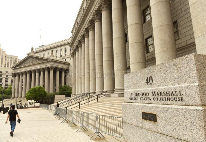 New York, de V.S. - 10 Juni, 2018: Thurgood Marshall Courthouse en royalty-vrije stock foto's