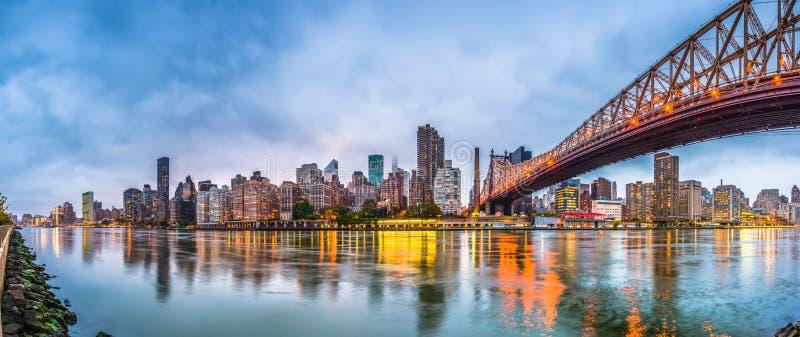 New York, New York, de V.S. met Queensboro-Brug stock foto's