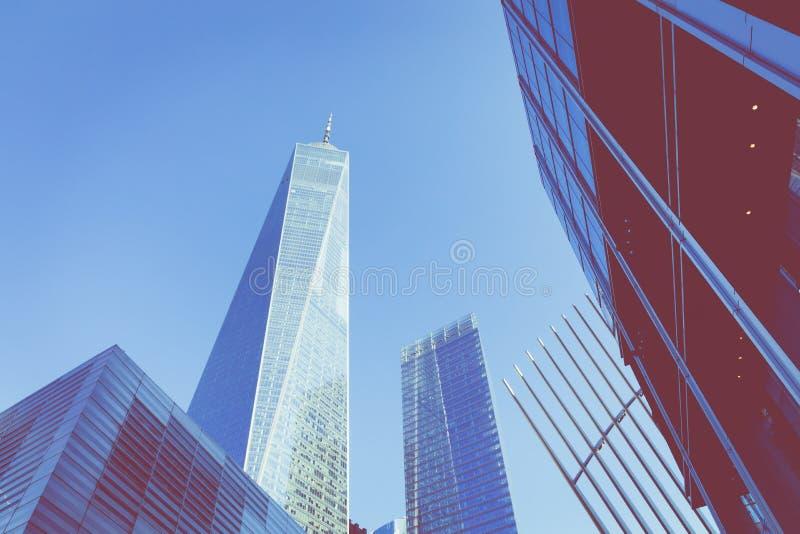NEW YORK, DE V.S. - 16 SEPTEMBER, 2018: Moderne architectur van Manhattan royalty-vrije stock fotografie