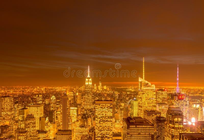 New York - DECEMBER 20, 2013: View of Lower Manhattan on Decembe royalty free stock photos
