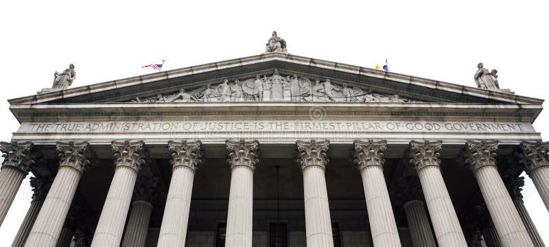 New York delstatens högsta domstolbyggnad arkivfoto