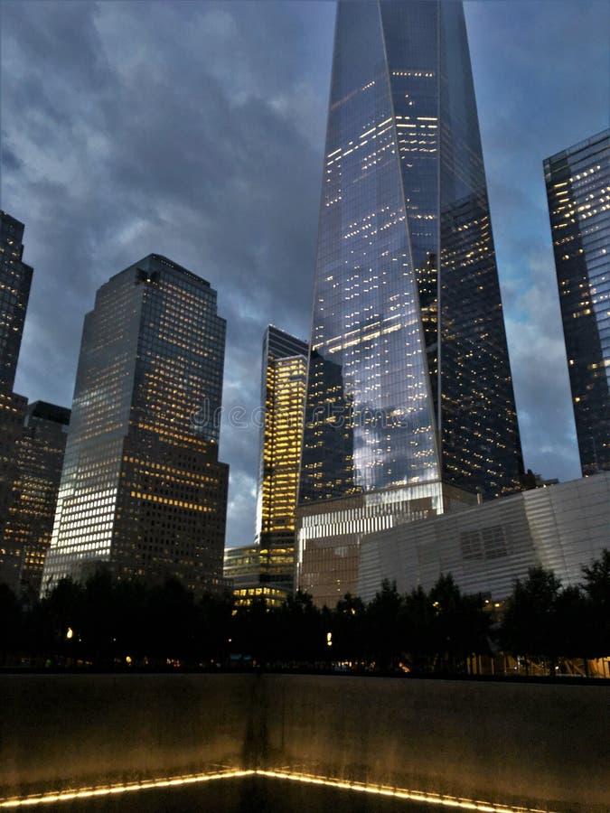 New York, 9/11 di memoriale immagine stock libera da diritti