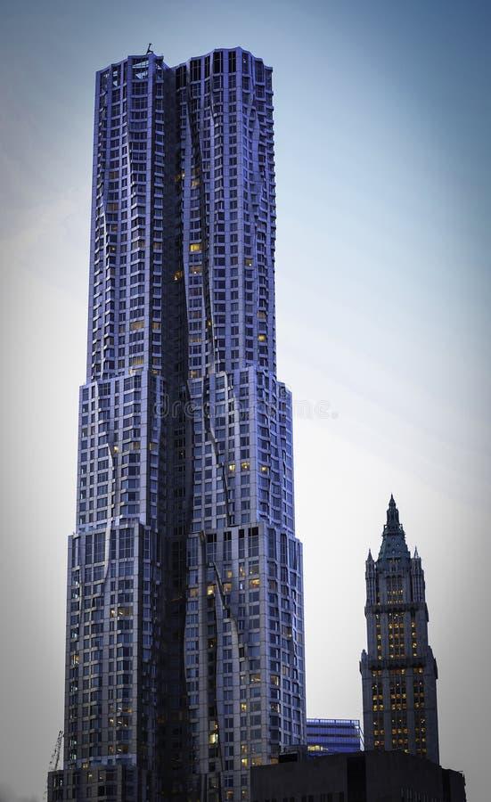 New York door Gehry (Toren Beekman) stock foto's