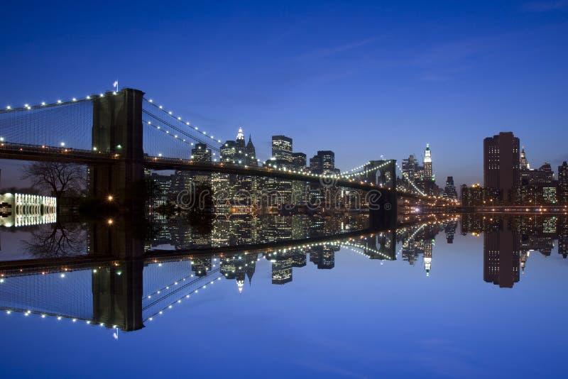 New York e ponte di Brooklyn immagine stock libera da diritti